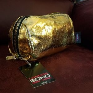 London Soho New York Gold foiled Cosmetic Bag
